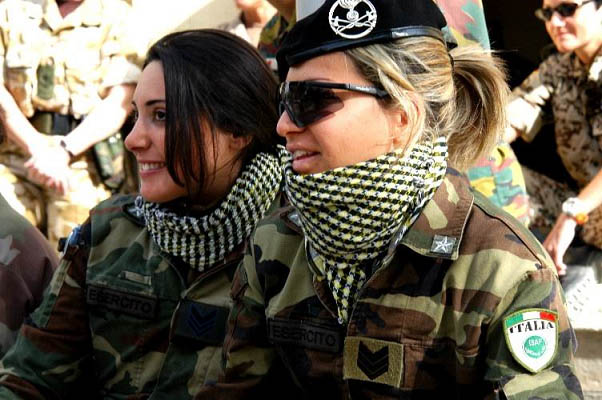 Italy hot girls in the military army forces