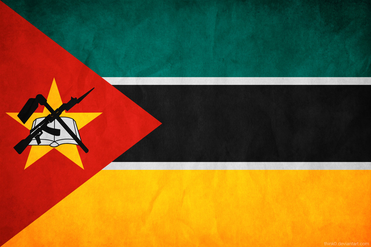 Mozambique flag and wallpaper