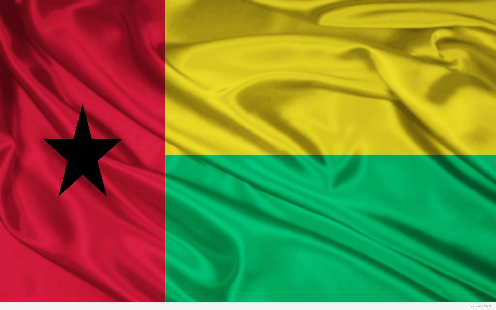 Guinea-Bissau flag and wallpaper