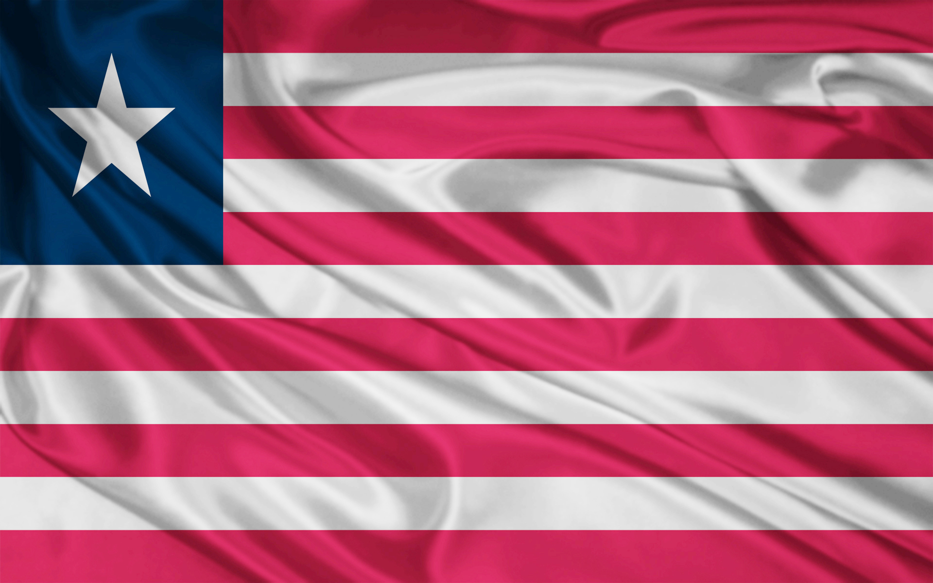 Liberia flag and wallpaper