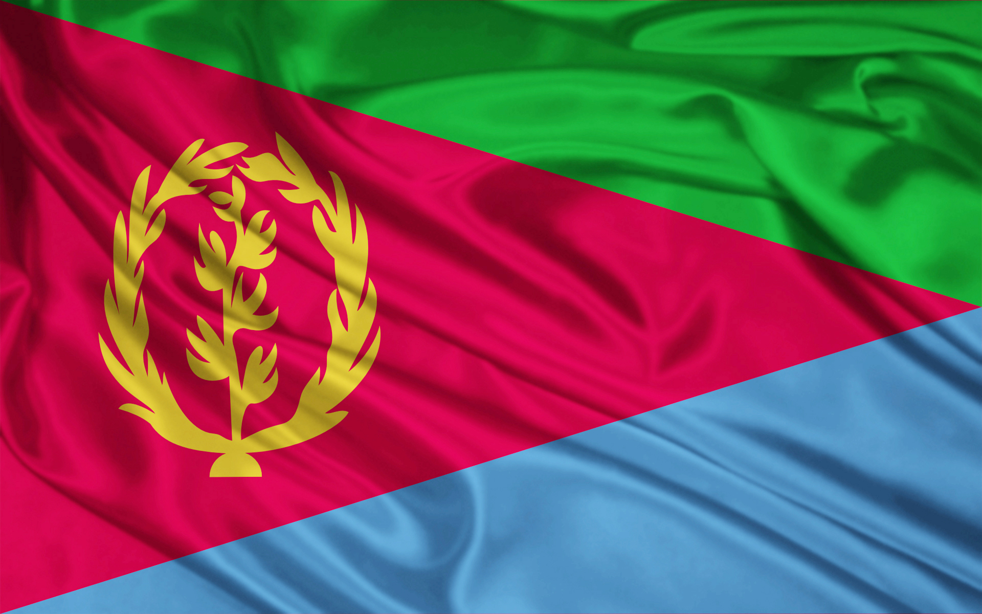 Eritrea flag and wallpaper