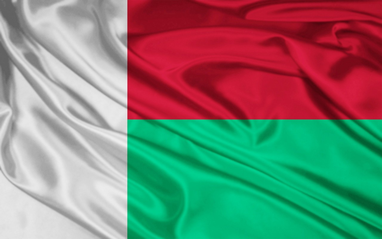 Madagascar flag and wallpaper