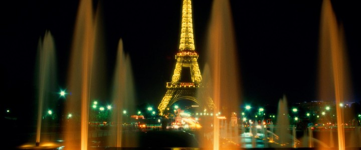 Paris Eiffel Tower at night wallpaper