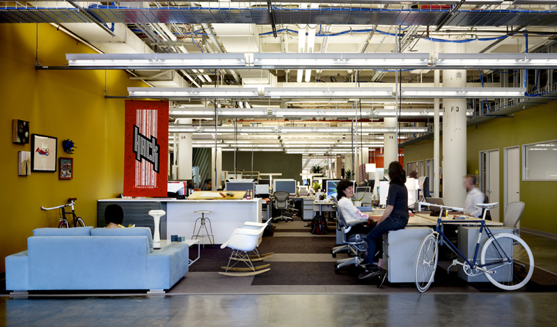 The new Facebook offices in New York, in 2013