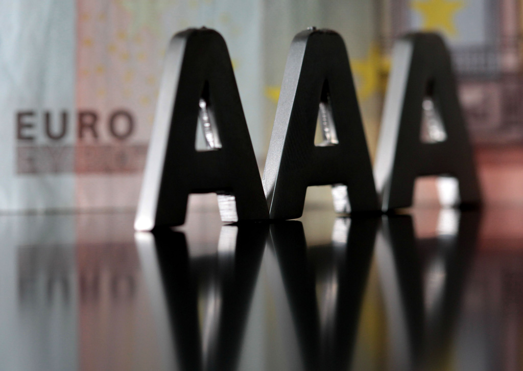 Triple AAA notation, from a credit rating agency in Europe