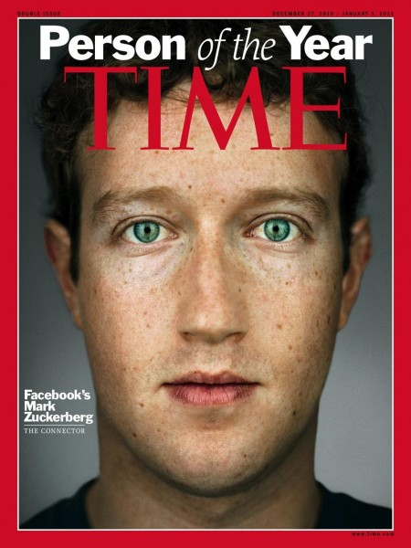 Mark Zukergerg person of the year time magazine facebook owner founder millionaire