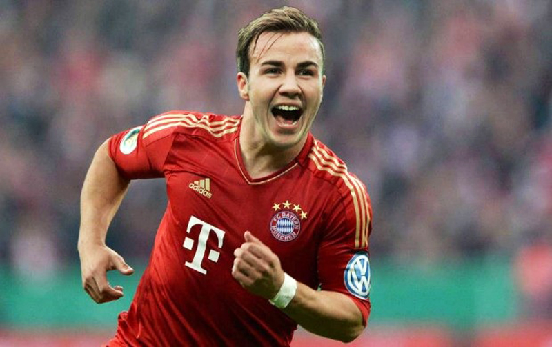 Mario Gotze, Bayern Munich new jersey for 2013-2014