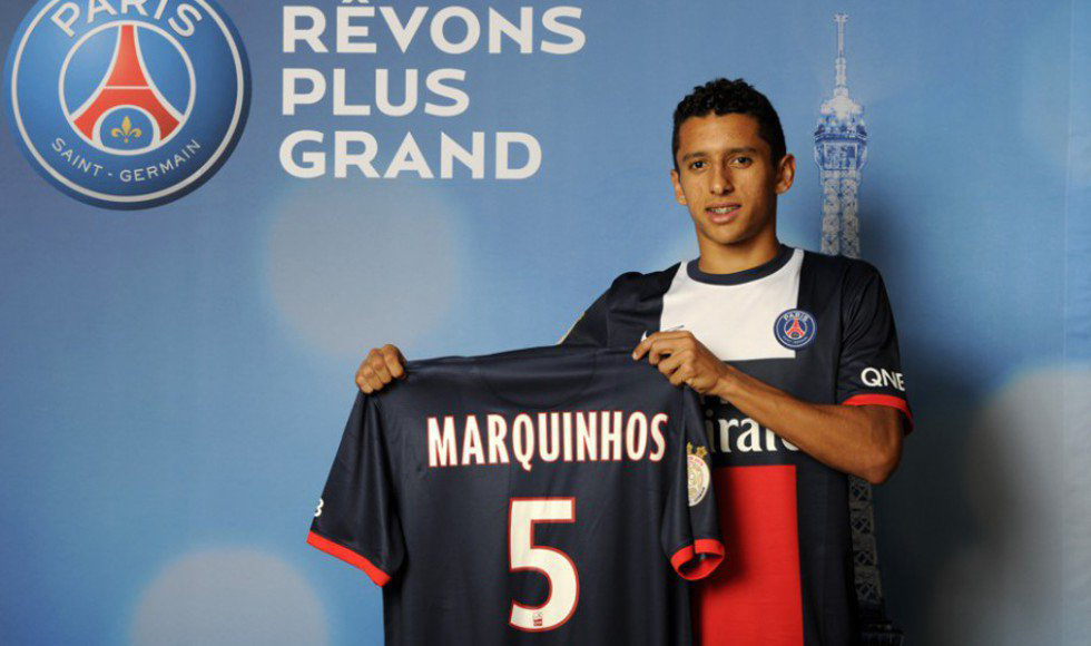 Marquinhos, PSG new jersey for 2013-2014