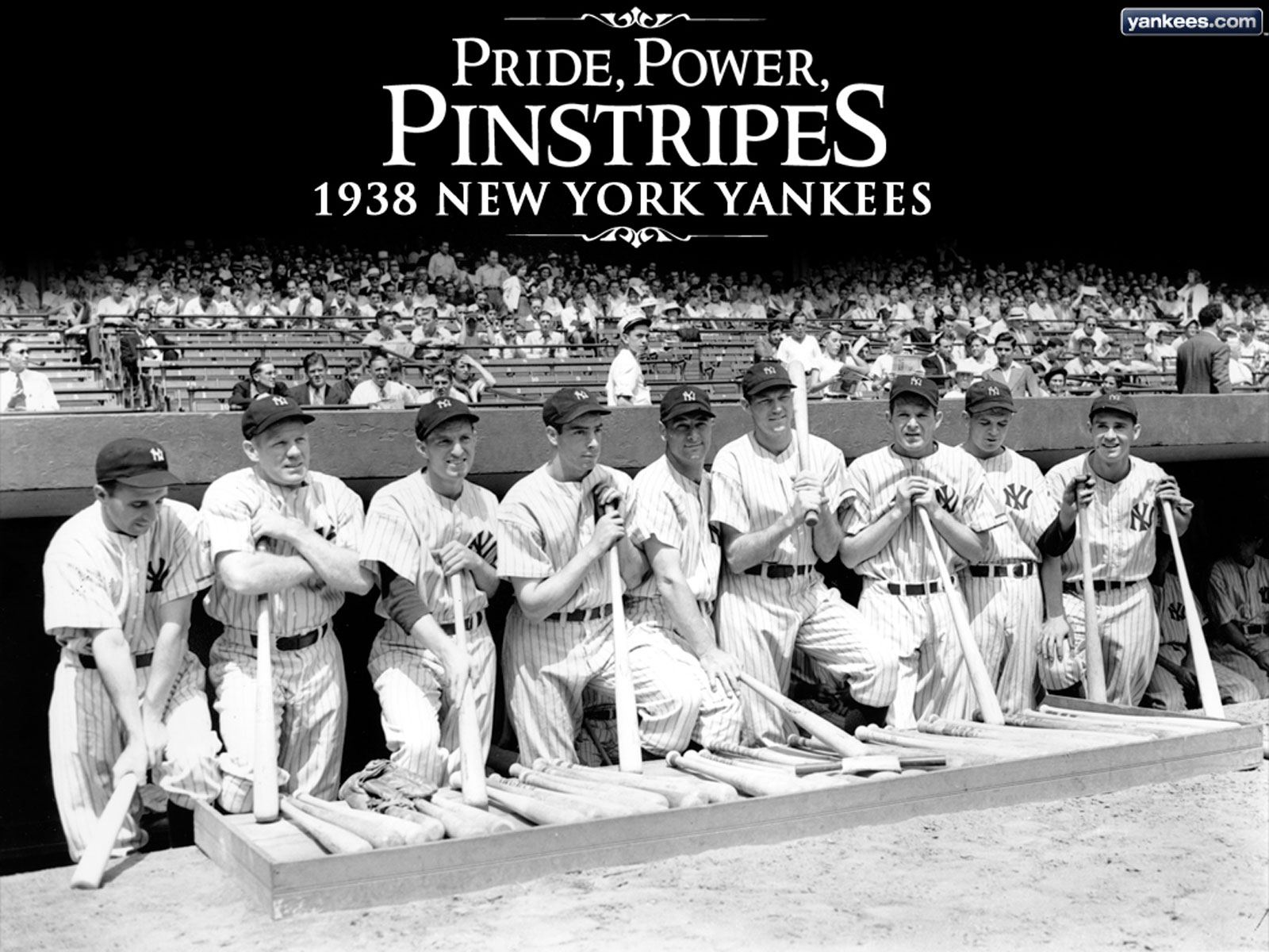 New York Yankees vintage wallpaper, from 1938