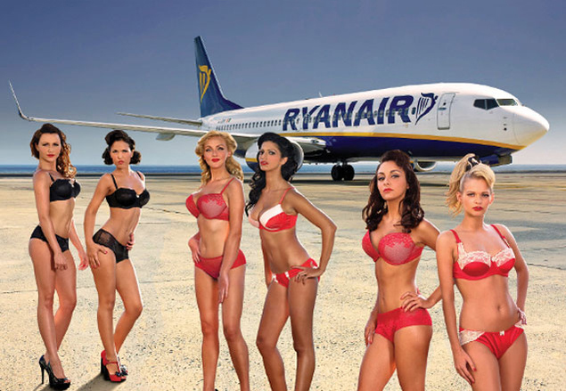 Ryanair air hostesses strip off their clothes for charity, in the bikini calendar for 2013 and 2014