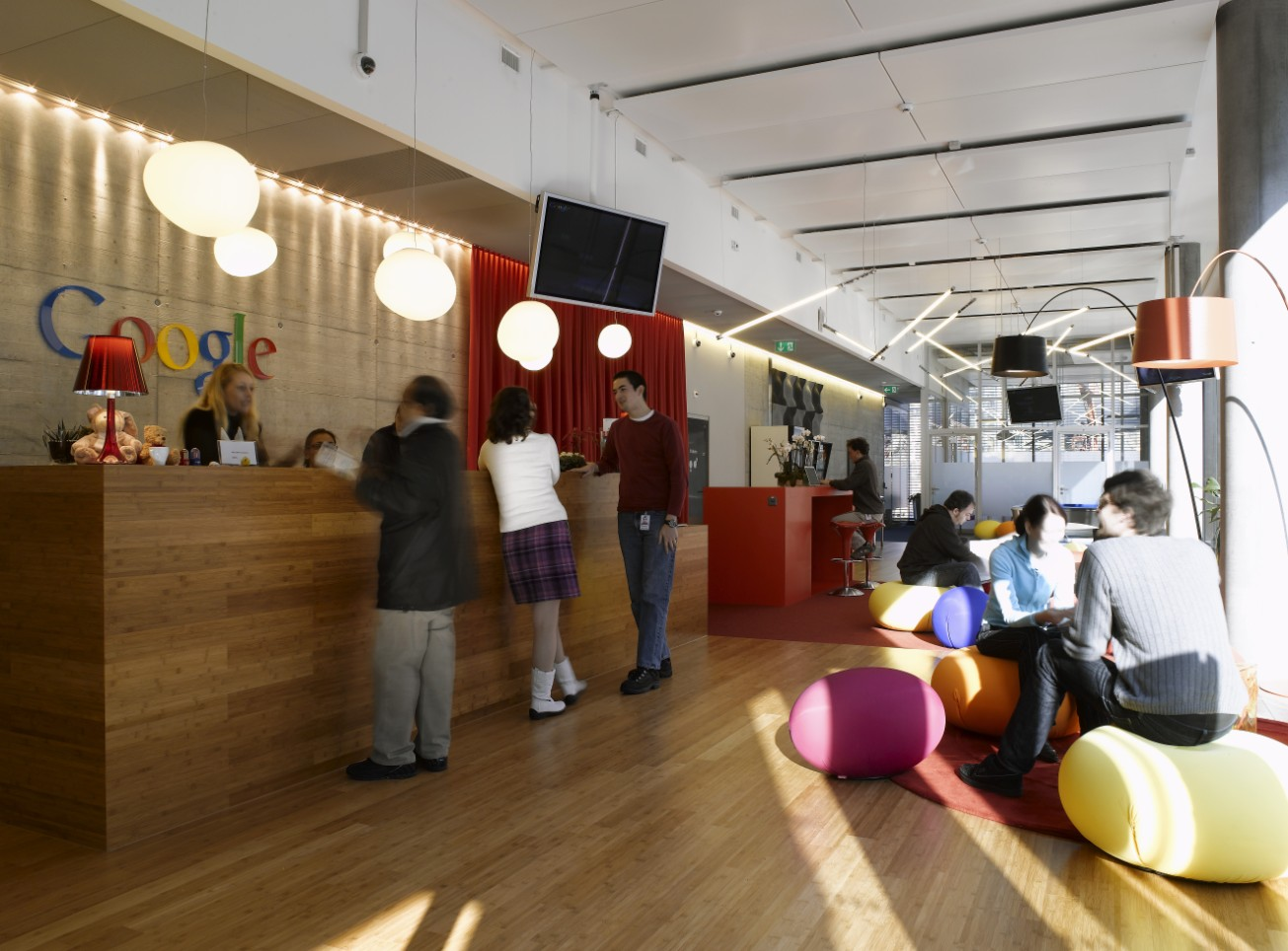 Google main lobby at one of their buildings and facilities