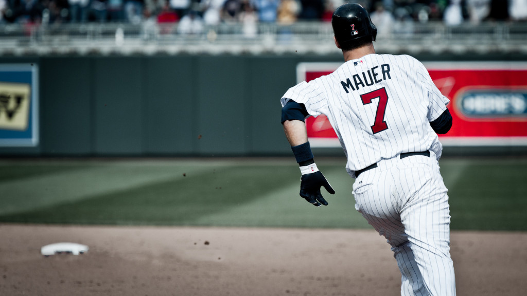 Joe Mauer, Minnesota Twins player, 2013-2014 wallpaper