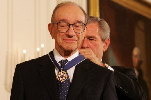 alan greenspan george bush medal