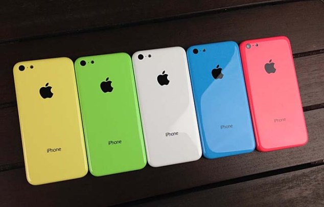 iPhone 5c different colors and cases