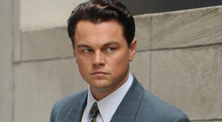 Leonardo Di Caprio mad look in the Wolf of Wall Street