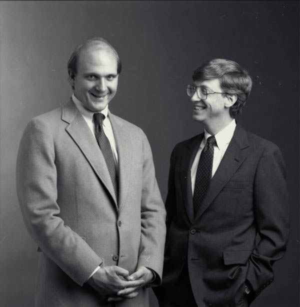 bill gates and Steve Ballmer microsoft shares stocks price portfolio equity 2014 2015 old pic photo image