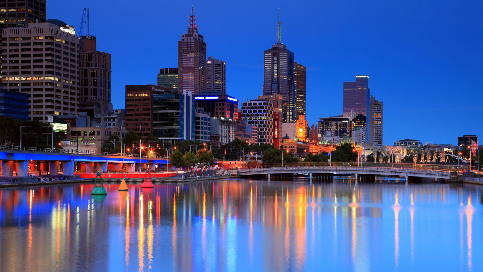 Melbourne Yarra River wallpaper