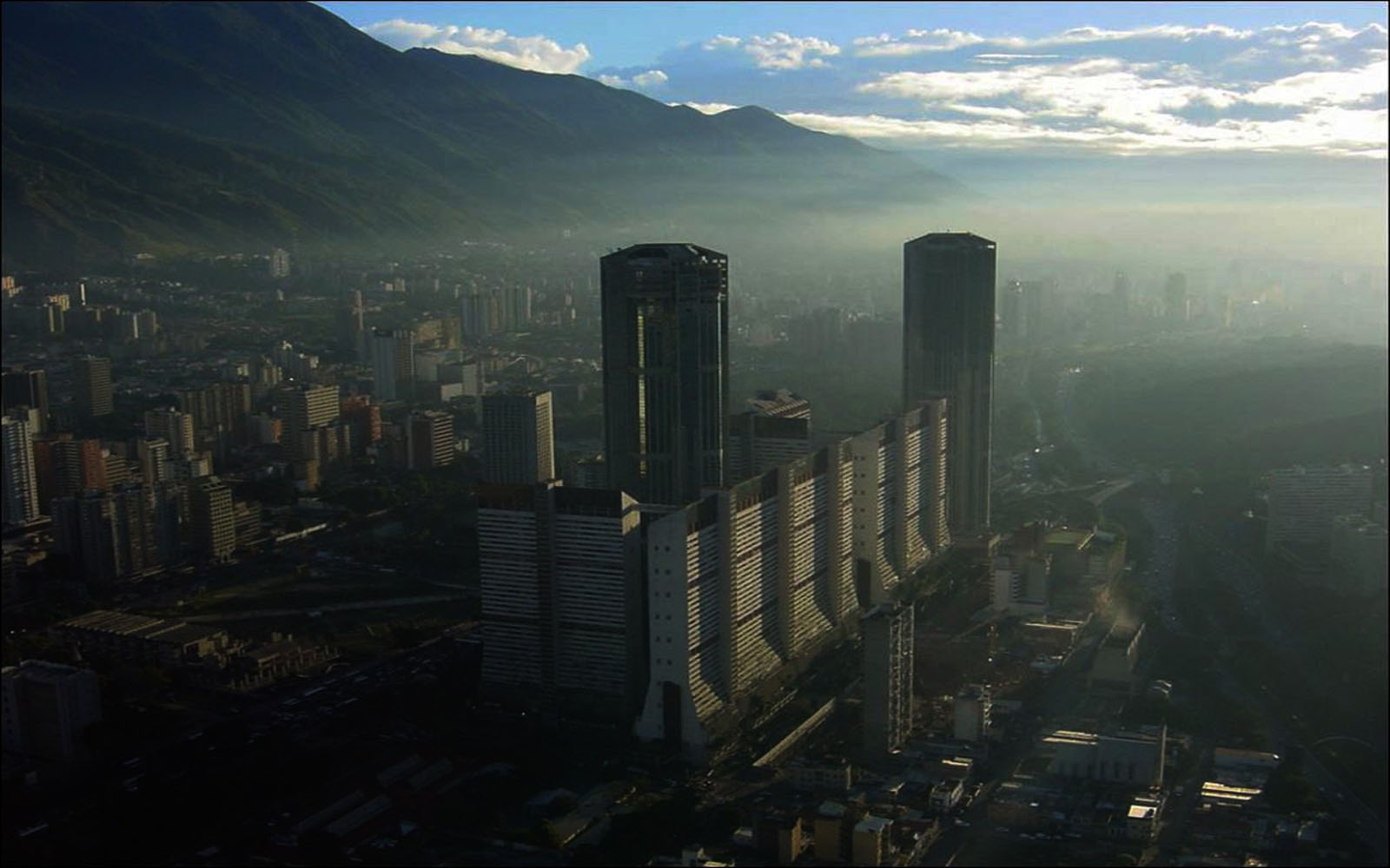 Twin Towers in Caracas, Venezuela
