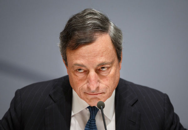 ECB President Mario Draghi reduced the deposit rate to minus 0.10 percent from zero, making the institution the world's first major central bank to use a negative rate.