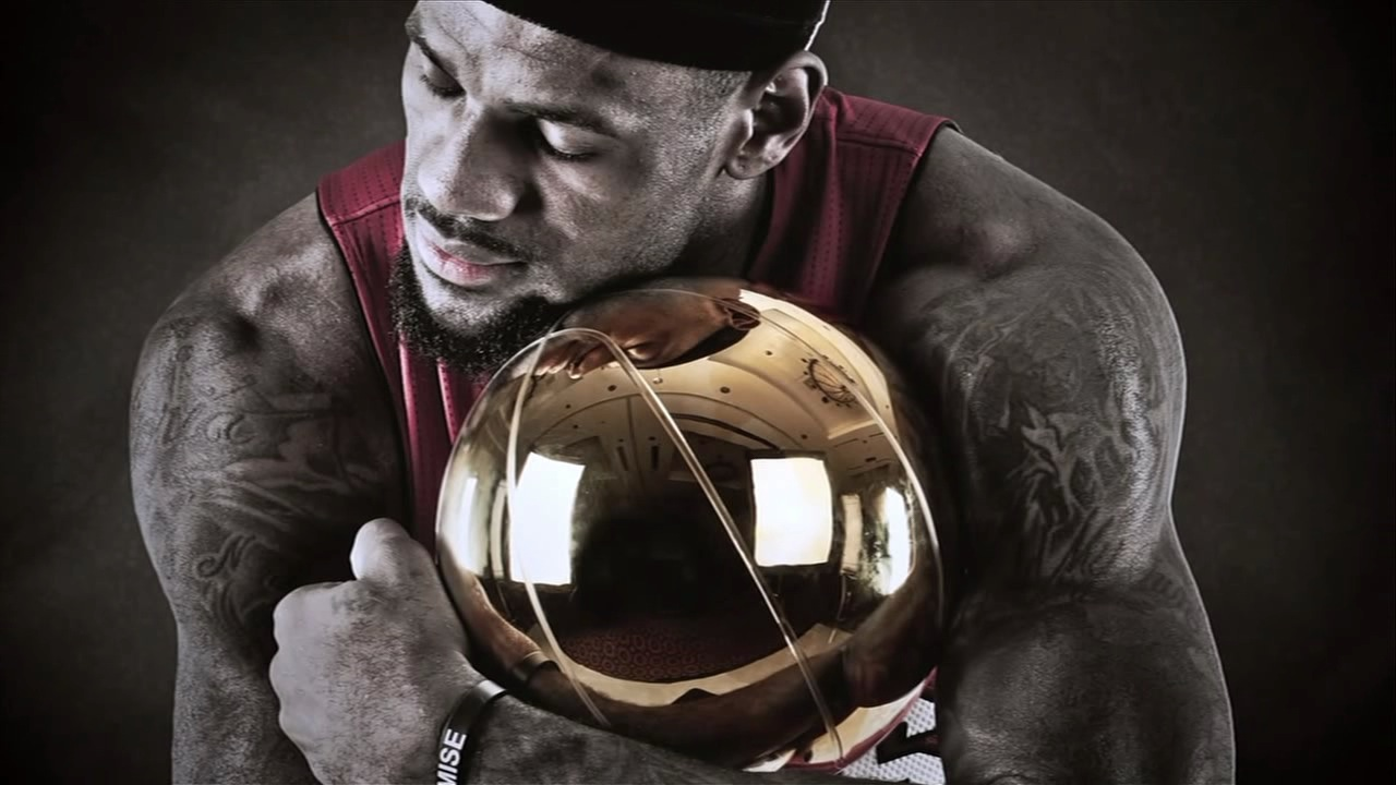 LeBron James, NBA champion for the Miami Heat