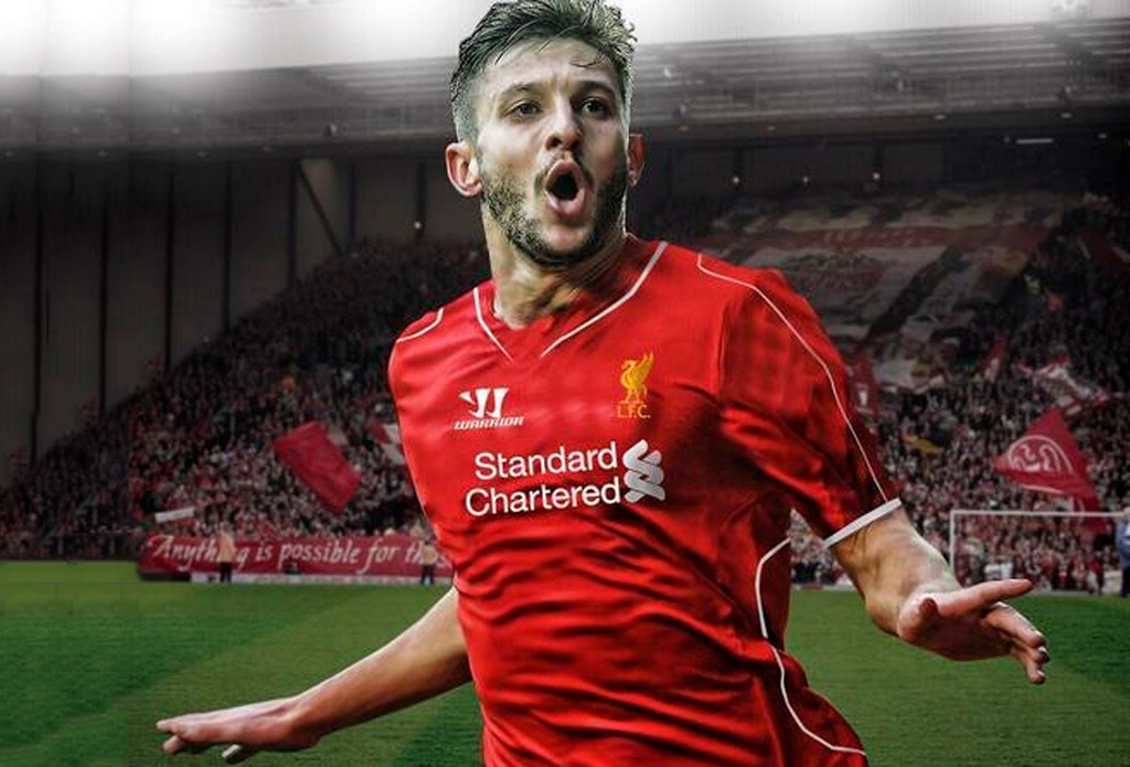 Adam Lallana in Liverpool shirt 2014-2015 wallpaper