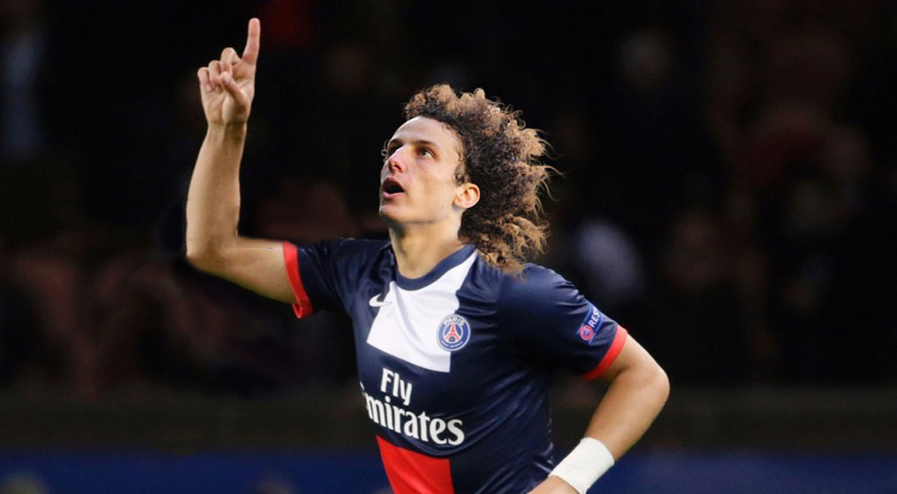 David Luiz in PSG shirt 2014-2015 wallpaper