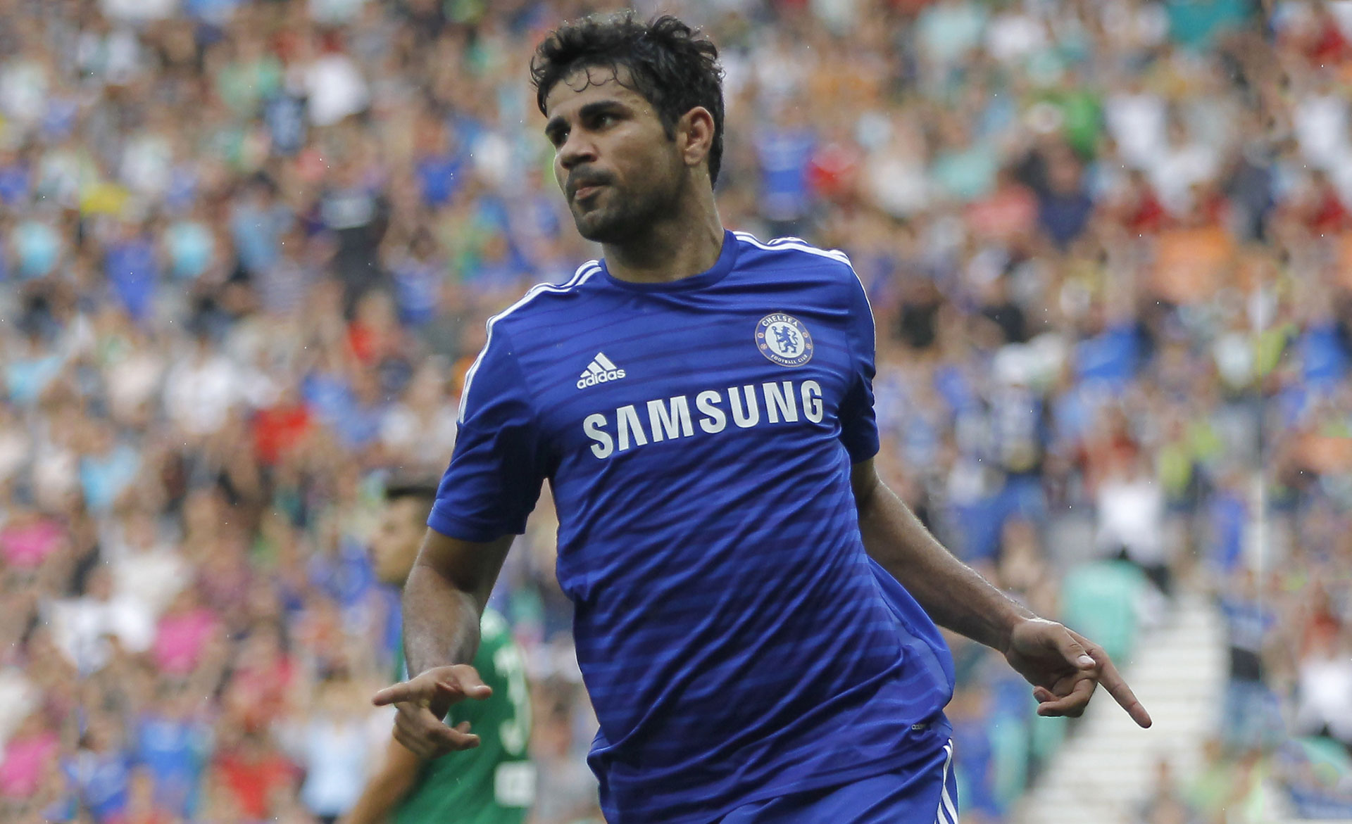 Diego Costa in Chelsea shirt 2014-2015 wallpaper