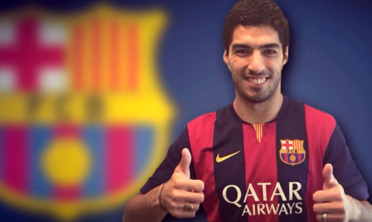 Luis Suarez in FC Barcelona shirt 2014-2015 wallpaper