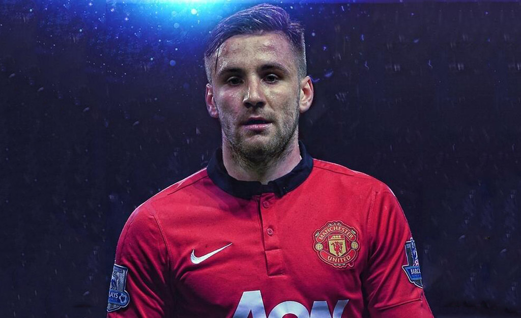 Luke Shaw in Manchester United shirt 2014-2015 wallpaper
