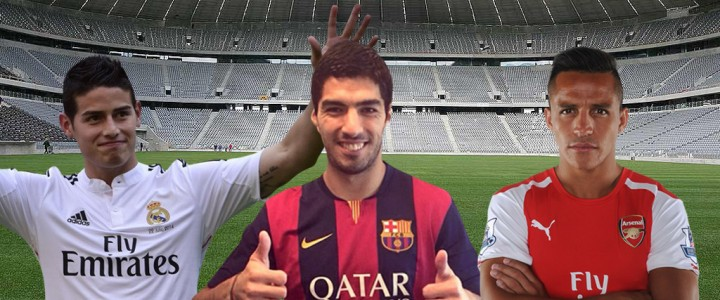 Top transfers in football in 2014-2015