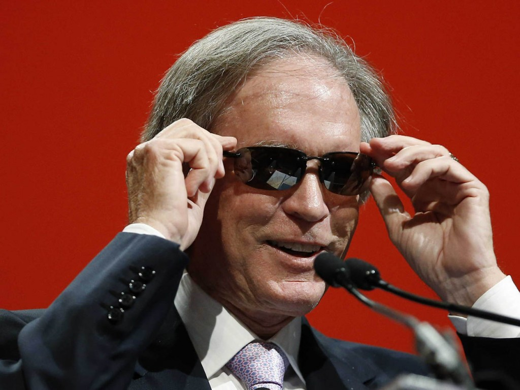 Better times arriving to Bill Gross, embracing a new experience and looking with swag in this photo