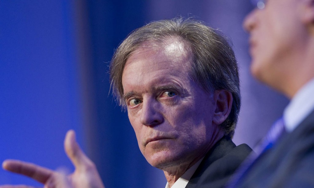 Bill Gross looking scared and tense during a time that Pimco Total Return was with some money redemptions