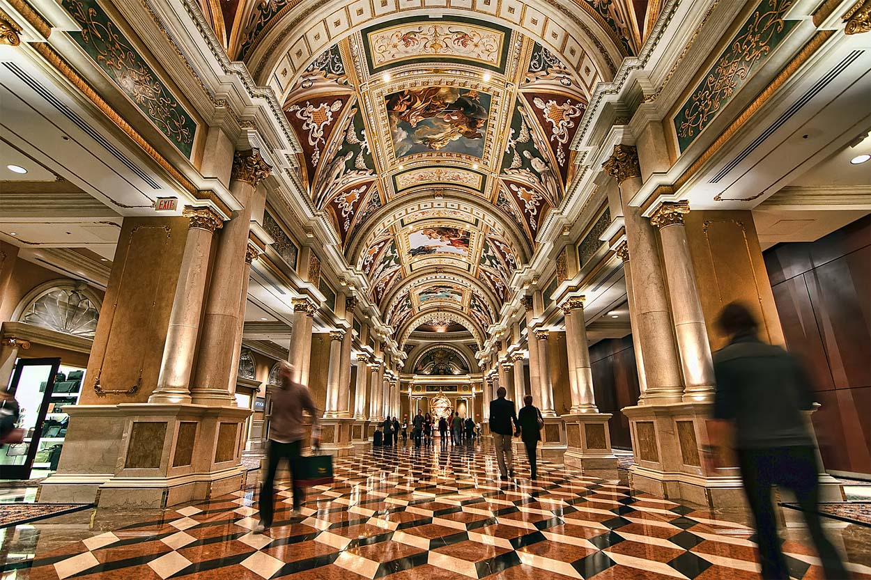 Venetian Casino paintings and interior decoration