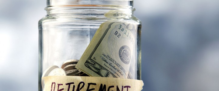 Retirement savings - Money in a jar