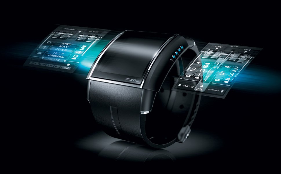 A smartwatch hologram in the future
