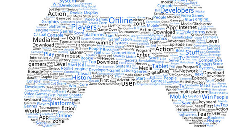 A console gaming pad in a word bundle