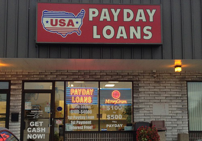Payday loans store in the United States
