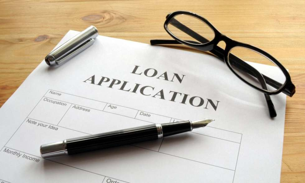 A loan application form