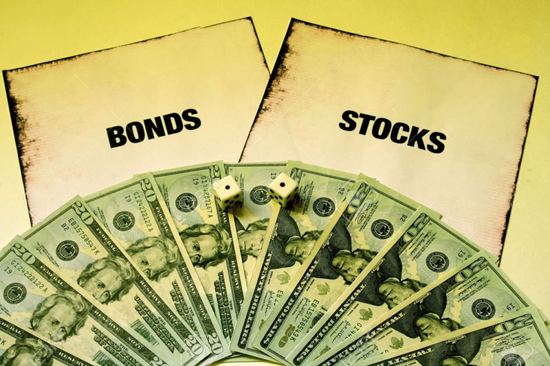 Money, dices, bonds and stocks