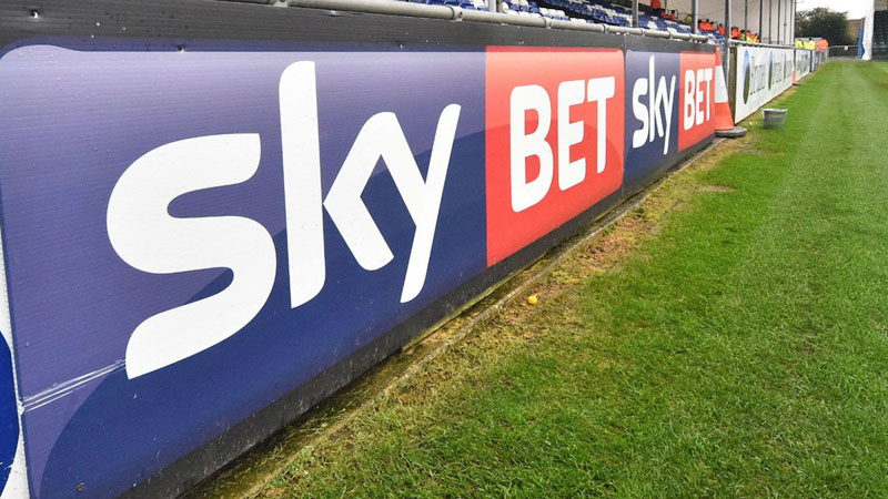 Sky Bet board advert in the stadium