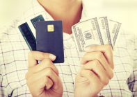 Credit cards, debit cards and money bills