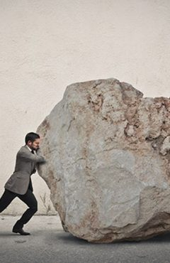 Business challenges - Moving a rock