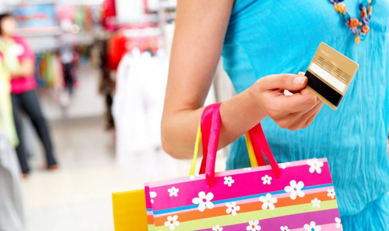 Credit cards play the most important role in shopping