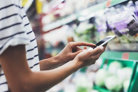 Saving money in grocery with app