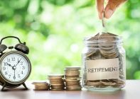 Retirement savings over time
