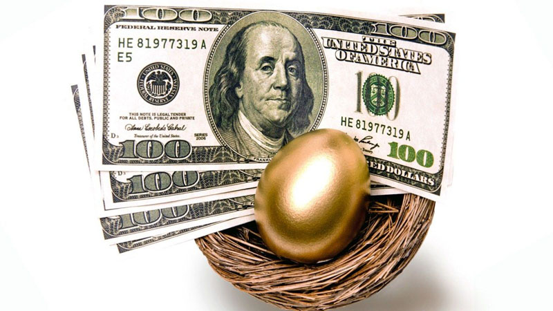 Egg money inside a basket