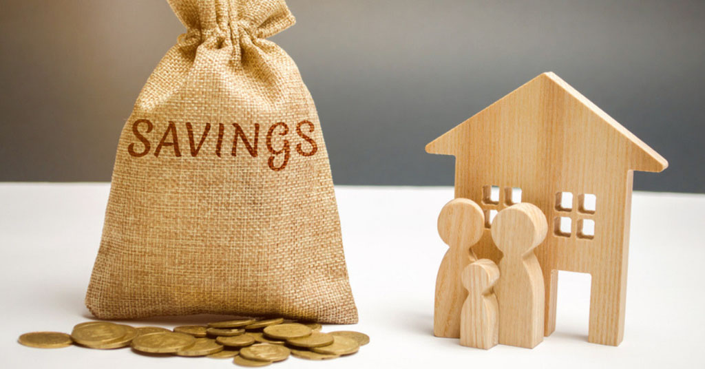 Savings are key when buying a house