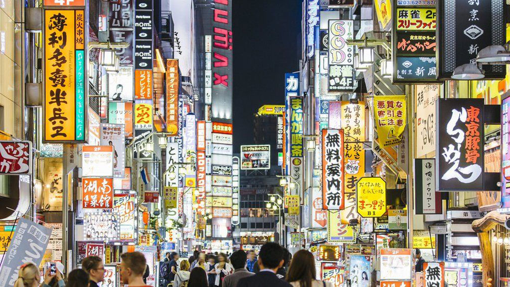 Japanese streets fully crowded