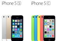 iPhone 5s vs iPhone 5c