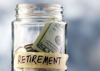 Retirement savings - Money in a jar